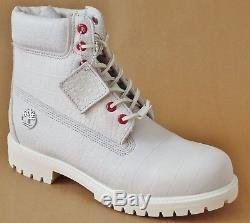 Timberland Mens Limited Release White Serpent Exotic 6 Inch Premium Boots A1P9Q