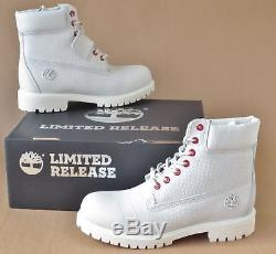 Timberland Mens Limited Release White Serpent Exotic 6 Inch Premium Boots Sz 14