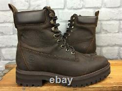 Timberland Mens Uk 8.5 Eu 43 Courma Guy Brown Leather Boots Rrp £170 Ad