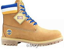 Timberland Mitchell & Ness NBA Golden State Warriors Leather Boots Tan Size 12