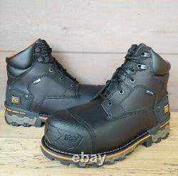 Timberland PRO 6 Mens Boondock Comp Toe WP Work Boots Size 9 Wide Black A1FZP