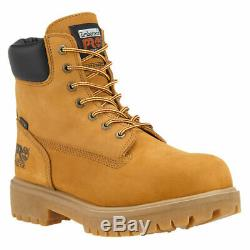 Timberland PRO Direct Attach 6 Inch Steel Toe Wheat Leather Work Boots A22U9