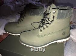 Timberland Premium 6 Inch Men's Boots Green /camo, Size 8.5