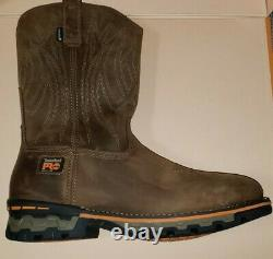 Timberland Pro Ag Boss Square Alloy Toe Pull-on Work Boots Men's Size 11 Nwob