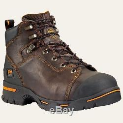 Timberland Pro Boots 52562 Mens Endurance 6 Steel Toe Brown Work Boot