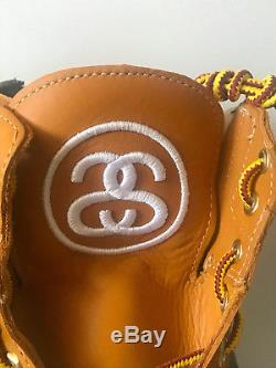 Timberland Stussy Tan Wheat 8.5-13 6 Inch Boot Leather Zip Supreme Deluxe Rare