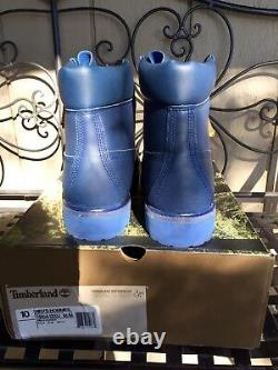Timberland X Bee Line boots 10 leather waterproof BBC Pharrell Blue