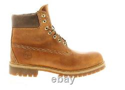 Timberland anniversary leather mens boots tan