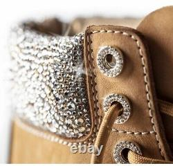 Timberland boots X Jimmy Choo Collaboration Boot Made With Crystals Size 9.5