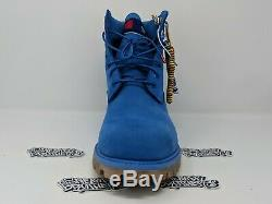 Timberland x Champion 6 Inch Luxe Premium Boots Surf Blue Men's TB0A1UCG J45
