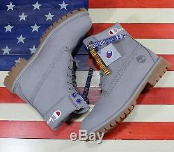 Timberland x Champion SAMPLE 6 Classic Premium Boot Blue Leather A1UCG Mens 9