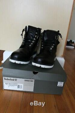 Timberland x Stussy collab Mens 6in boot 12 side zipper black/white