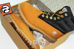 Timberland x The North Face Puffer Nuptse 700 Spruce Yellow 6 Inch Boot