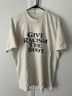 Vintage 90s Timberland Give Racism The Boot Shirt