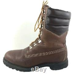 Vintage Timberland 40 Below Super Boots 11.5 Wide Pebbled Brown Leather