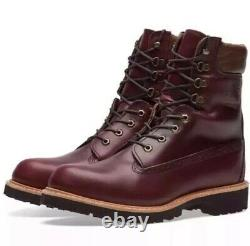 $500 Timberland Burgundy Horween Leather 8 Inch Boot Made In USA A1jxm648 Sz9