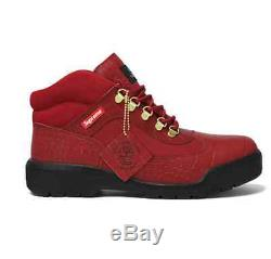 Botte Field Suprême Timberland Taille 9 Rouge Marque New Limited
