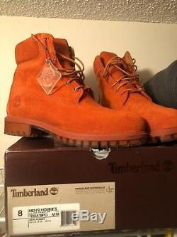 Bottes Timberland Hommes Taille 8 Orange / Marron Vnds 199,00 $ Us Condition