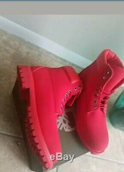 Bottes Timberland Pour Hommes Taille 8.5 Tout Rouge Chaussures Imperméables 2019