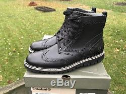 Bottes Timberland Pour Hommes 'britton Hill Wing Tip' Brogue Black Plusieurs Tailles