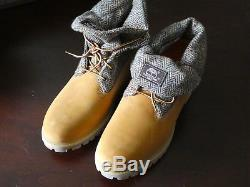 Bottes Timberland Roll Top Bottes Homme Tb0a11r7 Blanches Doublure Harris Tweed