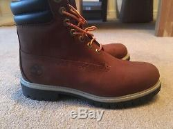 Double Collar Timberland Hommes Lacets Bottes Taille 7.5 Uk 41,5 Eur Brown