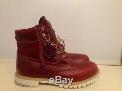 Hommes Heckel Bottes Timberland 6 Brogue Bourgogne Taille U. S. 13 Tb0a1hcl
