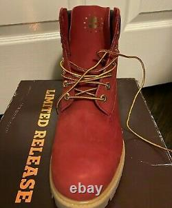 Marque New Mens Timberland Preminum Red Gum Limited Sortie 6 Pouces