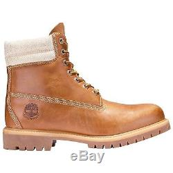 Mens Timberland Icon 6-inch Premium Wheat Double Collier Waterproof Bottes A158h