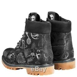 Nba X Est Vs Timberland Ouest Basketball Limited Edition Black Boots A24ba