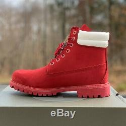 Premium 6 Timberland Bottes Hommes Holiday Edition Limitée Red Nubuck