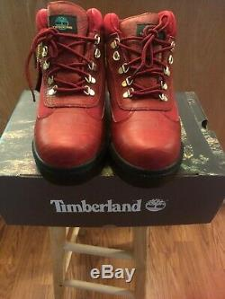 Supreme X Timberland Boot Rouge Taille Champ Python 10.5 Cadavres D'animaux