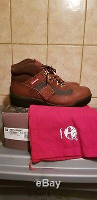 Supreme X Timberland Field Boot Marron Taille 13 Limitée Fw16