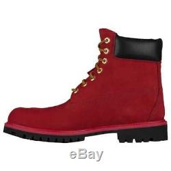 Timberland 6 Inch Boot Premium Imperméable Rubis Rouge A1oo5f41