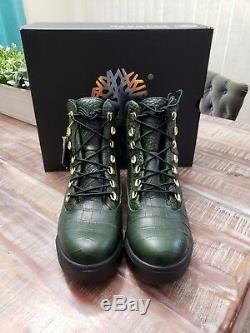 Timberland 6 Pouces En Cuir Vert Limited Edition Champ Bottes Taille 10