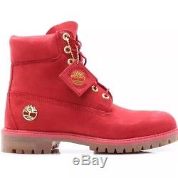 Timberland 6 Pouces Limited Release Premium Wp Hommes Bottes Rouge Tb0a1jlt Taille 13m