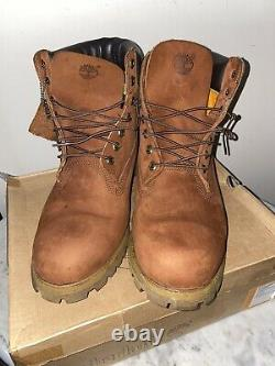Timberland 6 Premium Nubuck Wheat Timbs Mens Taille 13 Double Sole Brown