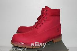 Timberland 6 Premium Red Nubuck Bottes Hommes Taille 13 Tb0a1149 Neuf