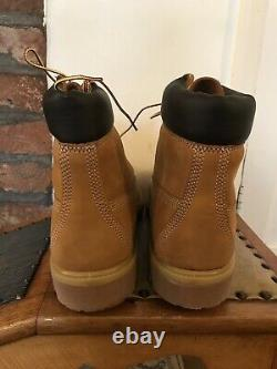 Timberland 6inch Premium Leather Boots Taille Uk11 / Us11.5w / Eu45.5 Wheat Yellow
