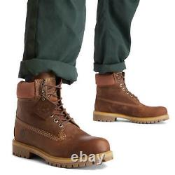 Timberland Classic 6 Pouces Premium Wide Fit Waterproof Hommes Bottes Brunes Taille 7-11