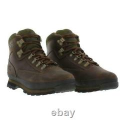 Timberland Euro Hiker Brown Leather Mens Walking Boots Taille Royaume-uni 7-12.5