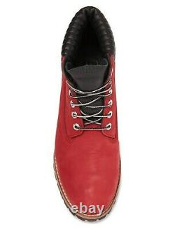 Timberland Exclusive Mens 6 Inch Heritage Boots Dark Red Nubuck Leather Taille 13
