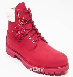 Timberland Holiday Limited Hommes Édition Waterproof Bottes 6 Pouces Rouge / Noir
