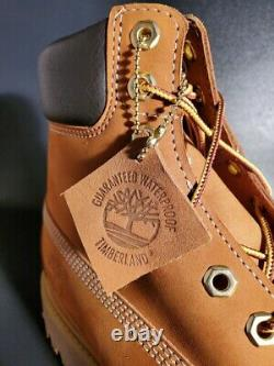 Timberland Homme 6 Pouces Premium Waterproof Boots Wheat Nubuck 10061 Taille 11,5 W