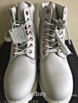 Timberland Limited Release Exotic White Serpent 6 Mens Boots 9.5 Nouvelle Authentique