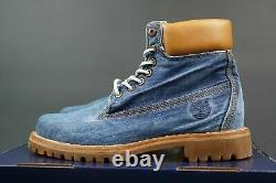 Timberland Limited Release White Oak Denim 6 Inch Premium Heritage Leather Boots