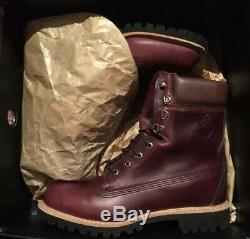 Timberland Made In USA 8 Pouces Boot Imperméable. Bourgogne Tboa1jxm. Taille 10