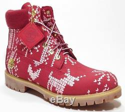 botte timberland homme rouge