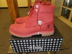 Timberland Premium 6 Bottes Nubuck Imperméables Red Tb0a2a67f41 Taille Homme 13