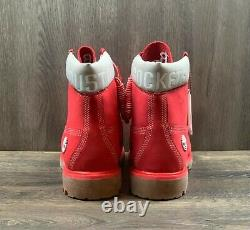 Timberland X Nba Houston Rockets Nubuck Boots Taille Homme 11,5 Rouge Tb0a249e L61